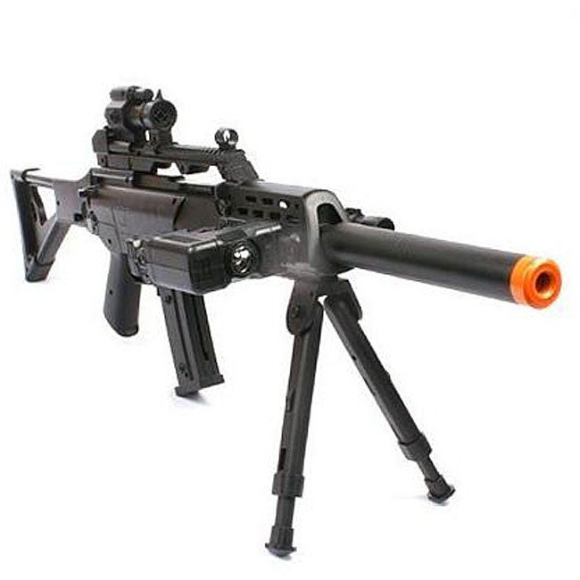 Spring Sniper Rifle FPS-220 Bipod Scope Silencer Airsoft Gun