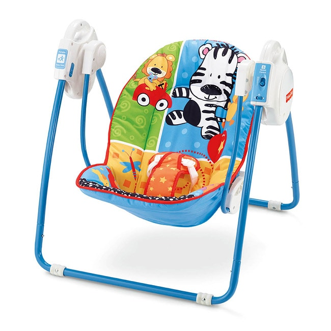 Fisher-Price Adorable Animals Open Top Take-Along Swing