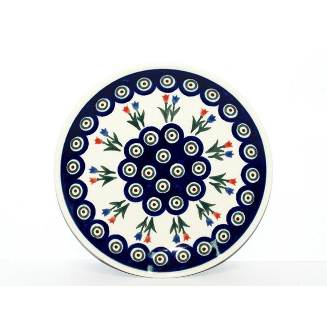 Ceramic Stoneware Blue and White 8-inch Salad Plate (Poland)