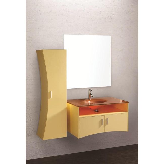 Design element ultra modern yellow bathroom vanity set free shipping today for Ultra bathroom vanities burbank
