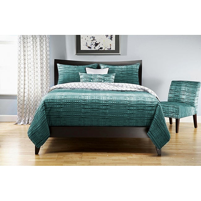 Interweave 6-pc Queen-size Duvet Cover and Insert Set