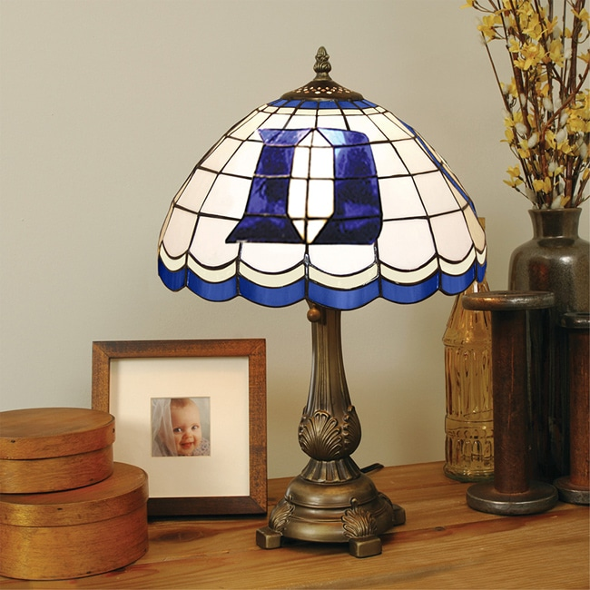 Tiffany-style Duke Blue Devils Lamp