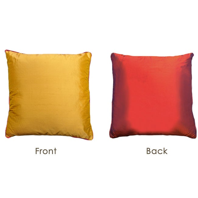 Copper to Gold Reversible Silk Pillow