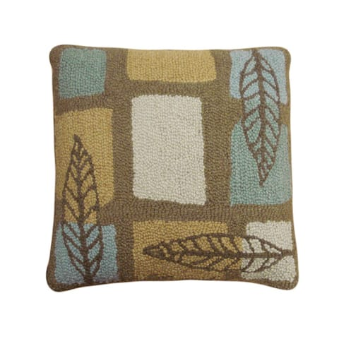 Woods Hooked Wool Pillow