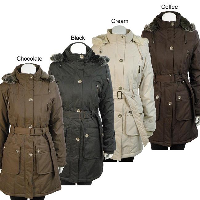 E-Niqi Women's Classic Faux Fur Hooded Coat
