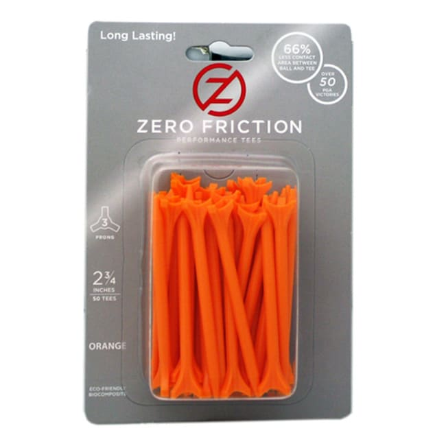Zero Friction Orange 2.75-inch Performance Golf Tees (Pack of 300)
