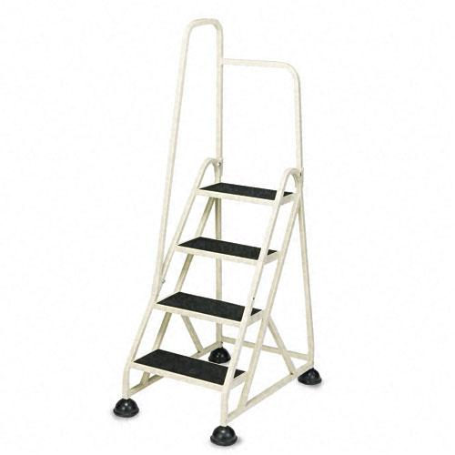 Shop Stop Step Folding Aluminum Handrail Ladder Free