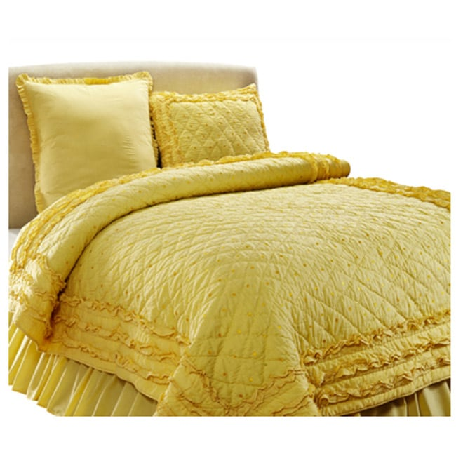 Chelsea Yellow 2-piece Twin-size Quilt Set