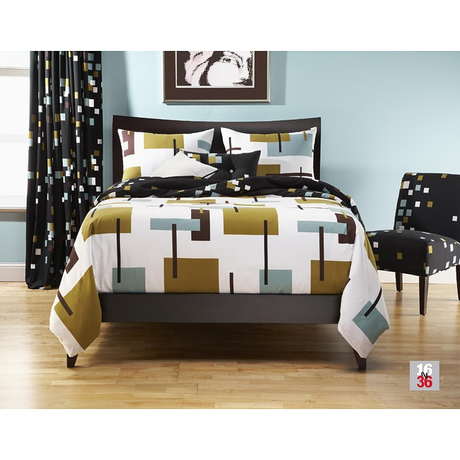Reconstruction 6-pc Queen-size Duvet Cover and Insert Set