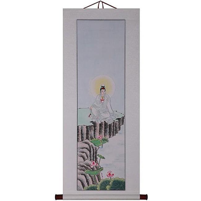 'Goddess of Mercy' Wall Art Scroll Painting (China)