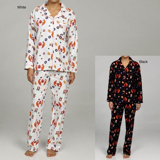 Leisureland Women's Japanese Print Pajamas Set