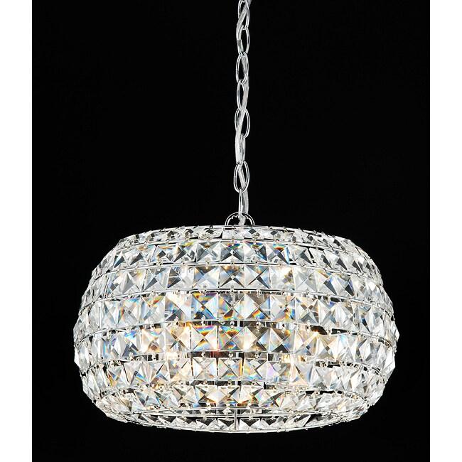 Indoor 3-light Crystal Lantern Chandelier