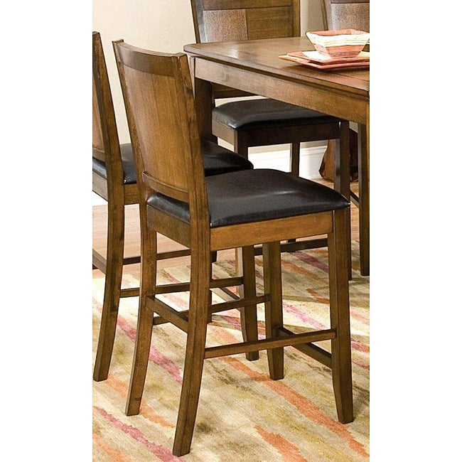 Walnut Panel Back Counter Stools Set Of 2 Free