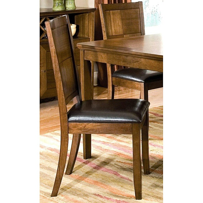 Walnut Panel-back Dining Chair(Set of 2)