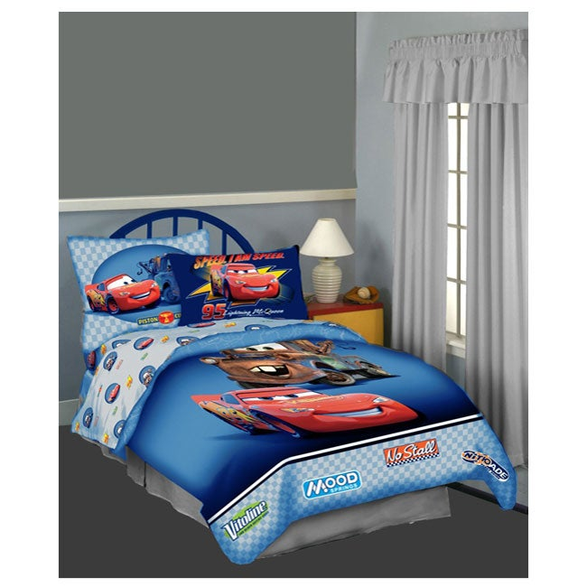 Disney Pixar Cars Twin size 4 piece Bed in a Bag. Disney Pixar Cars Twin size 4 piece Bed in a Bag   Free Shipping