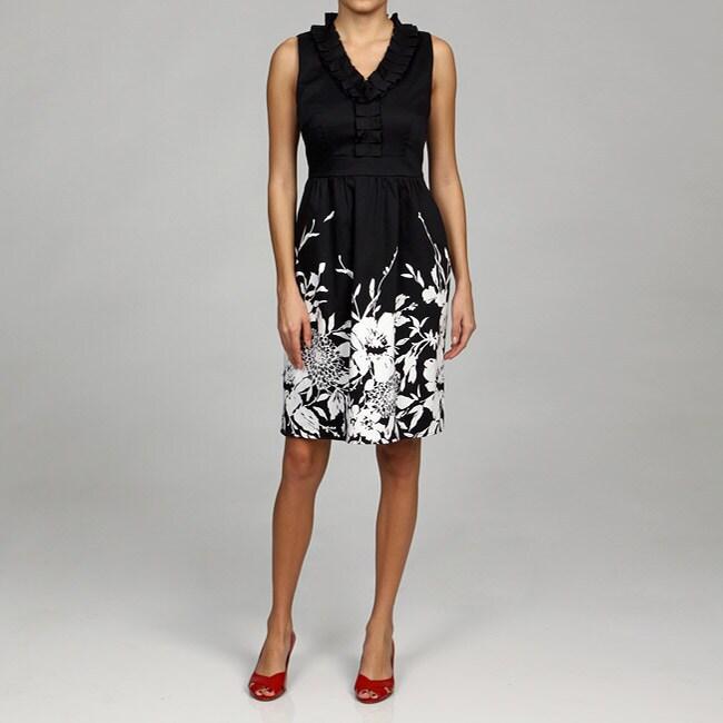 Spense Women's Ruffle Neck Dress