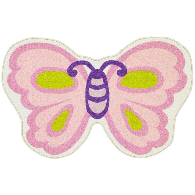 Funtime Children's Butterfly Rug (2'6 x 4')