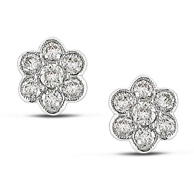 Miadora 18k White Gold 3/4ct TDW Diamond Earrings (G-H, SI1-SI2)
