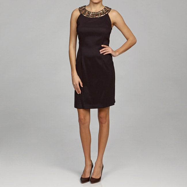 Connected Apparel Women's Solid Sheath Dress