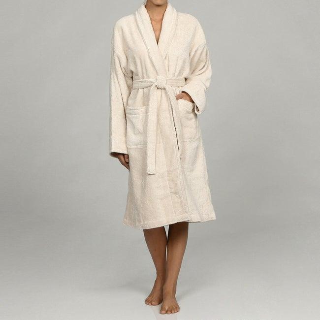 Unisex Ecru Rayon from Bamboo Spa Bath Robe