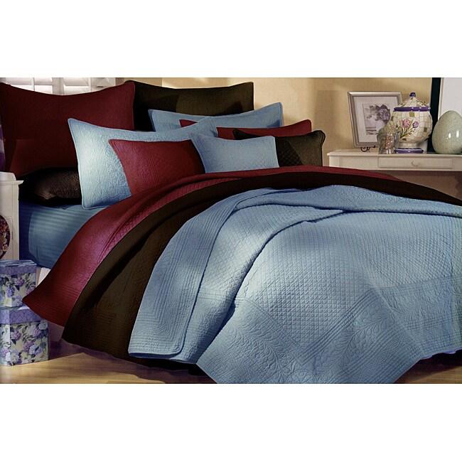 Greenland Home Fashions Renaissance Chocolate Cotton King-size Quilt Set