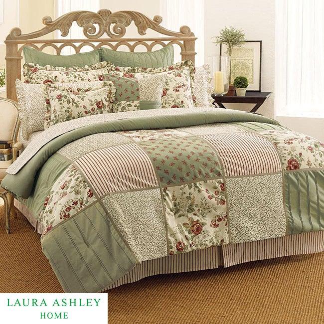 Laura Ashley Glenmore 4-piece California King-size Comforter Set