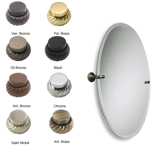 Allied Brass Oval Tilt Frameless Beveled Bathroom Mirror
