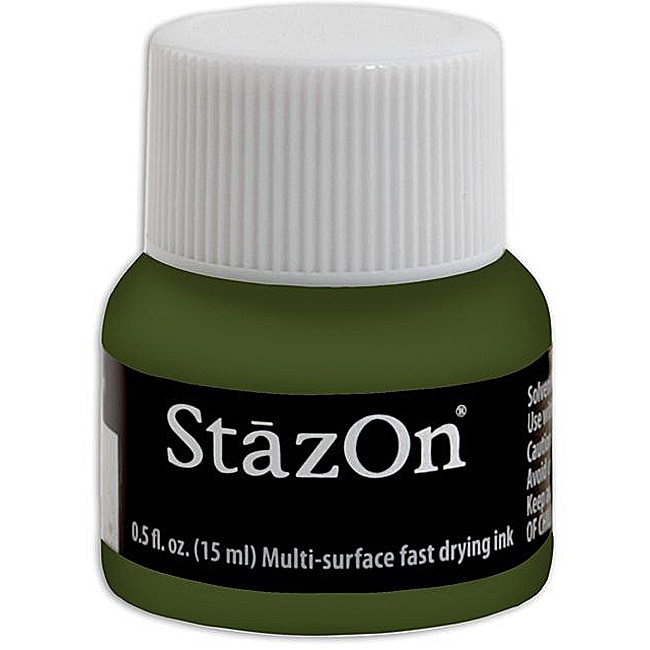 StazOn Wide Mouth Bottle - Olive Green