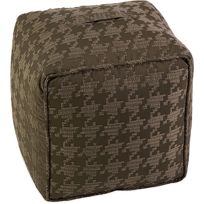 Americana Houndstooth Square Ottoman