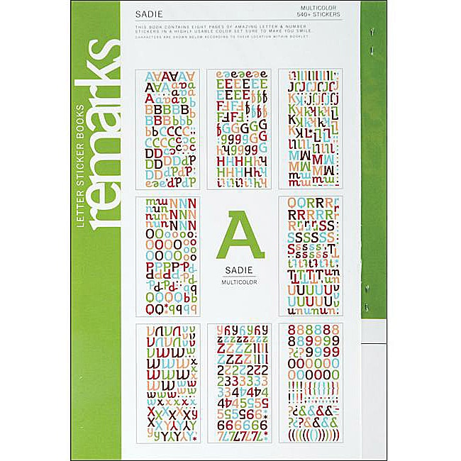 remarks sadie large multi sticker book   free shipping on orders