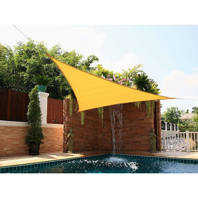 Shop Small Triangle Yellow Sail Sun Shade Free Shipping On Orders