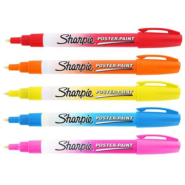 Sharpie Poster Paint Assorted Markers (Pack of 5)