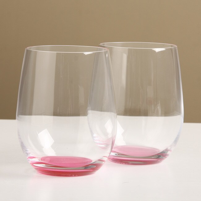 931eefa7c35 Shop Riedel 'O' Crescendo Viognier/ Chardonnay Pink Tumblers (Pack of 4) -  Free Shipping On Orders Over $45 - Overstock - 5593531