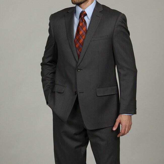 Joseph Abboud Men's 2-button Grey Stripe Wool Suit
