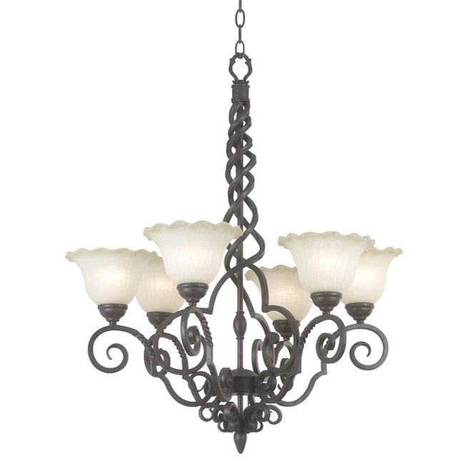 Lynley 6-light Copper Chandelier