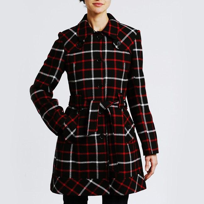 Tommy Hilfiger Women's Belted Wool Coat