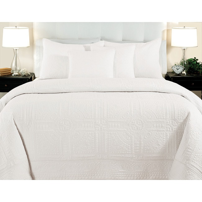 Cathedral Whisper White Full/Queen-size 3-piece Quilt Set