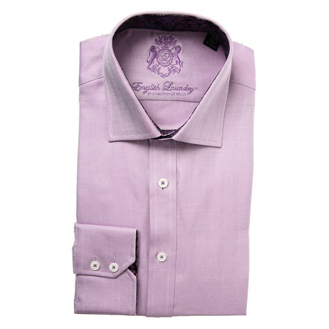 73ffbacfcc Shop English Laundry Men's Herringbone Dress Shirt - Free Shipping On Orders  Over $45 - Overstock.com - 5599218
