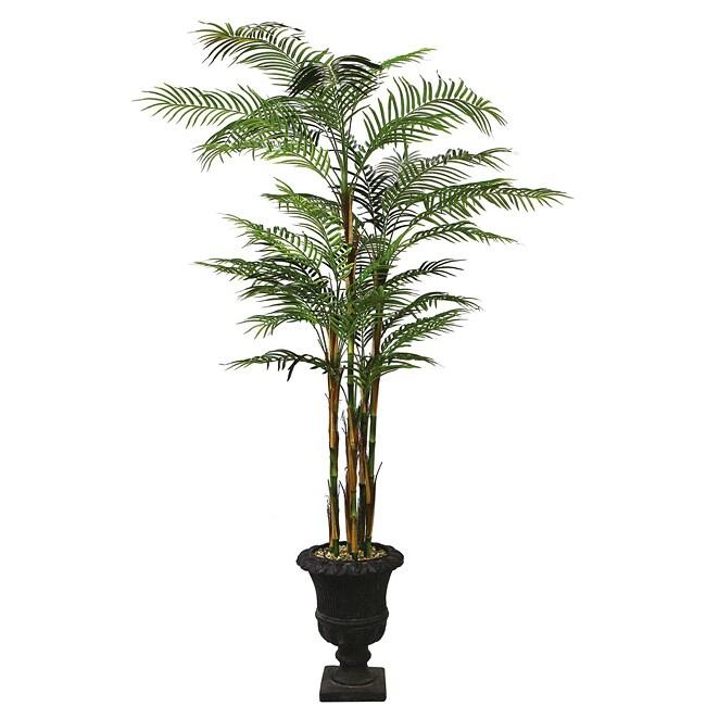 Laura Ashley Realistic 8-ft Artificial Areca Palm Tree
