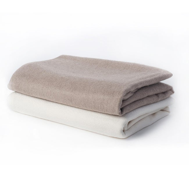 Sophia Cashmere Woven 2-ply Fringed Throw