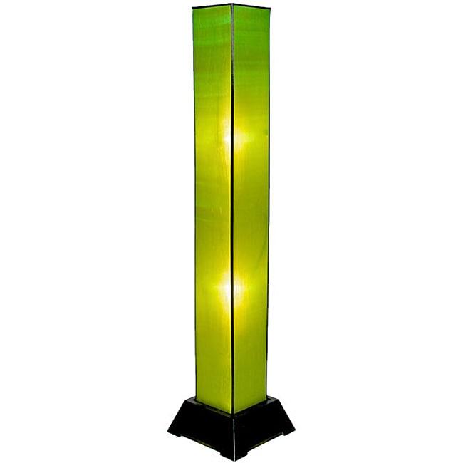 Tana Silk Green Floor Lamp (Vietnam)