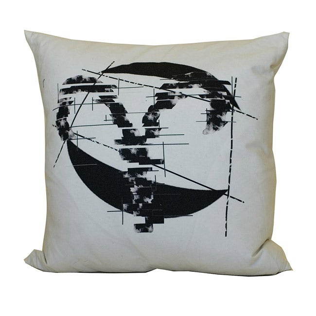 Jiti Aries Zodiac Sign Cotton Decorative Down Pillow