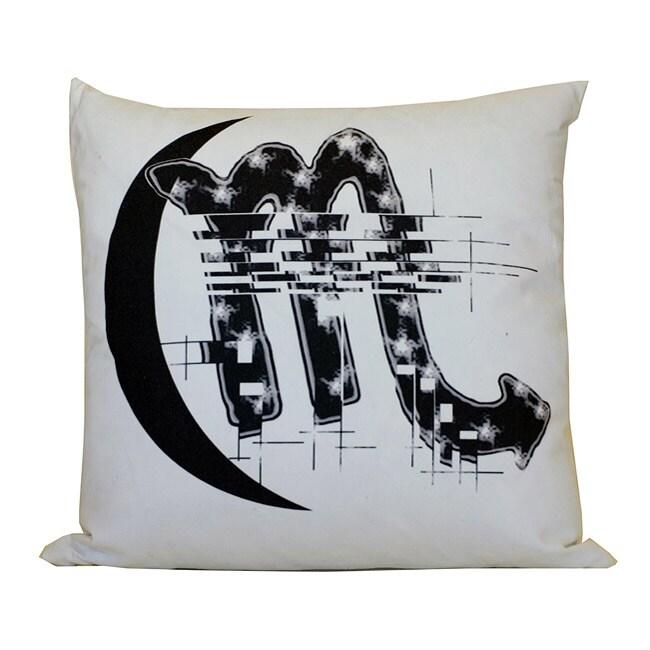 Scorpio Zodiac Sign Cotton Decorative Pillow