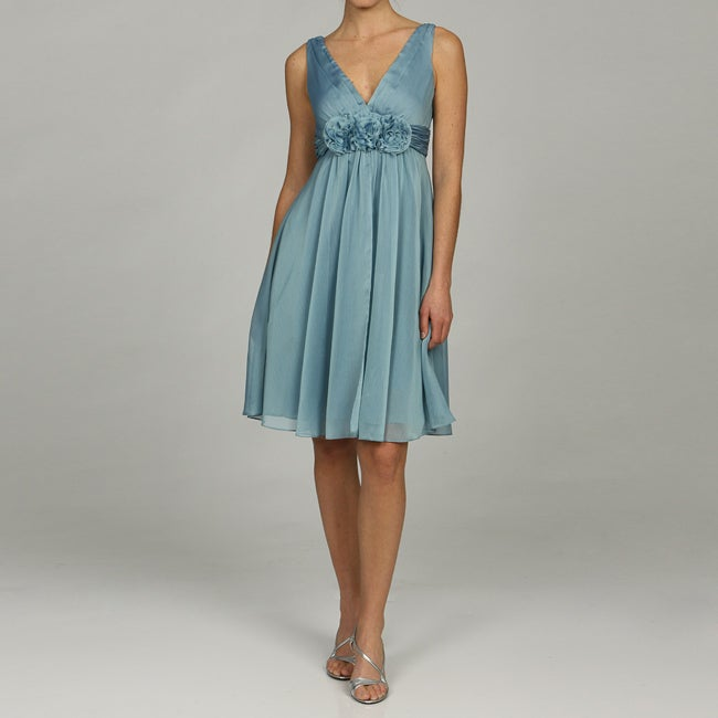 Adrianna Papell Womens Chiffon Evening Dress