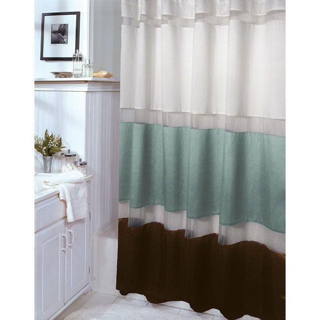 marin aquamarine and brown shower curtain free shipping on orders