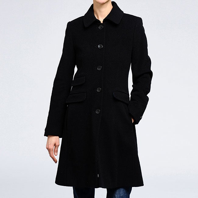 DKNY Women's Cashmere blend wool Fitted Coat - Free Shipping Today ...