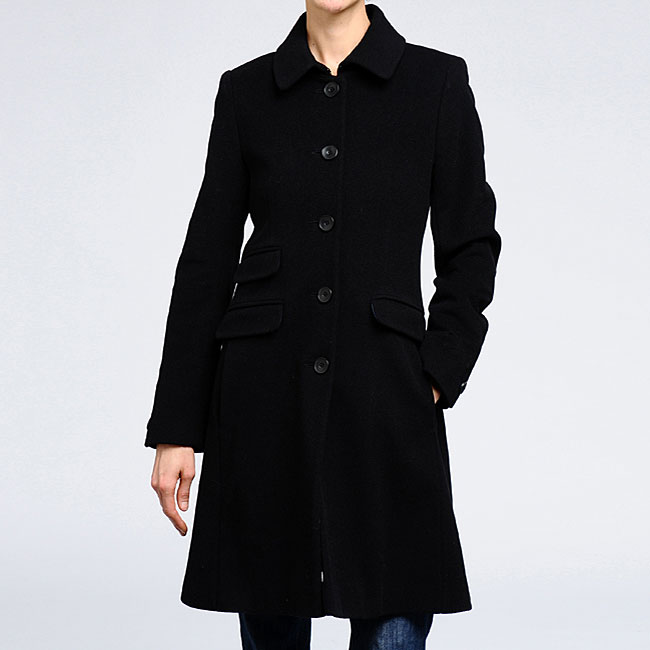 DKNY Women's Cashmere blend wool Fitted Coat - Free Shipping Today