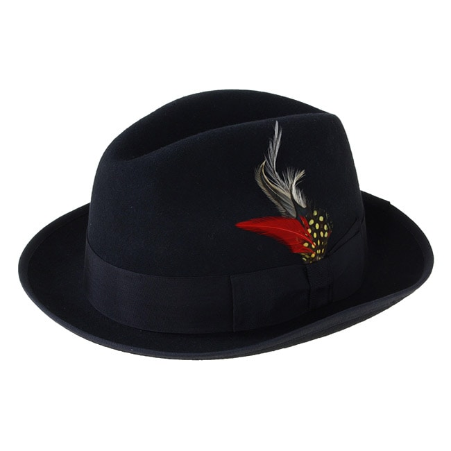Ferrecci Men's Black Wool Fedora