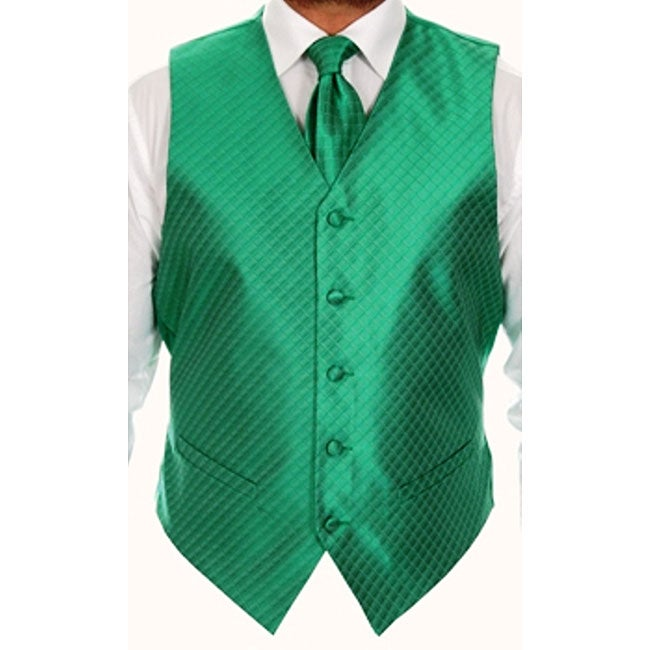 Ferrecci Men's Four-piece Green Vest Set