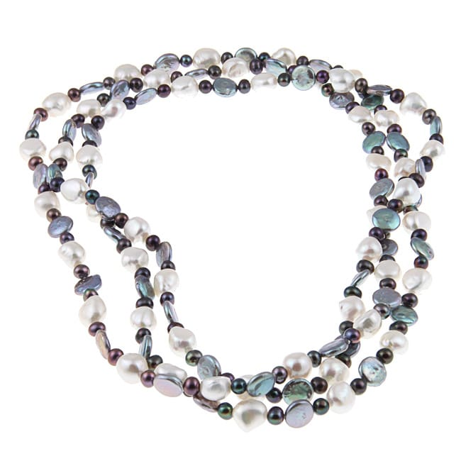 Multi-colored Freshwater Pearl 60-inch Endless Necklace (5-11 mm)